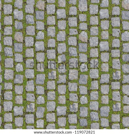 Stone Block with Grass - Seamless Background. (more seamless backgrounds in my folio). - stock photo