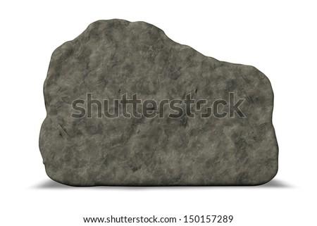stone board on white background - 3d illustration - stock photo