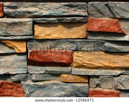 stone brick wall pattern 3 - stock photo