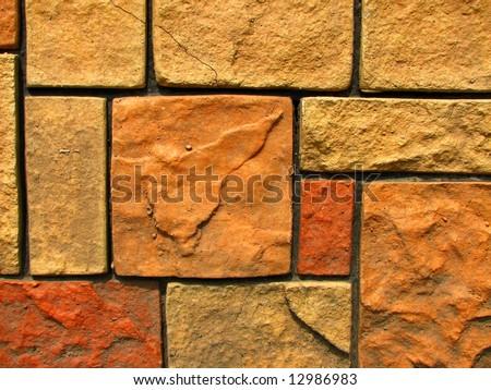 stone brick wall pattern 7 - stock photo