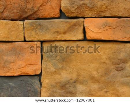 stone brick wall pattern 11 - stock photo