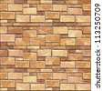 Stone Brick wall seamless background (jpg). Vector version also available - texture pattern for continuous replicate. - stock vector
