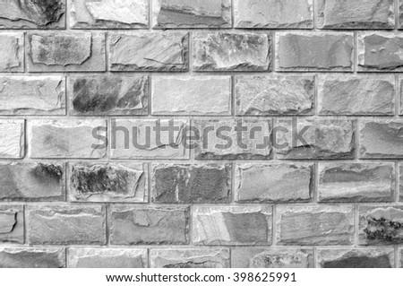 Stone brick wall texture - stock photo