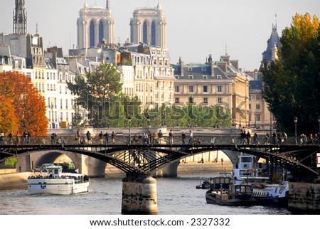 Stone bridges over Seine in Paris France - stock photo