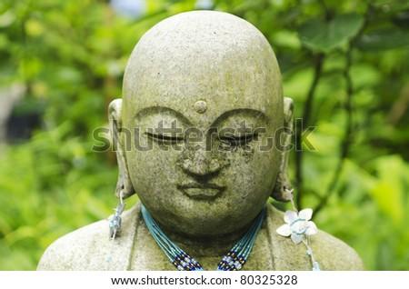 Stone Buddha - stock photo