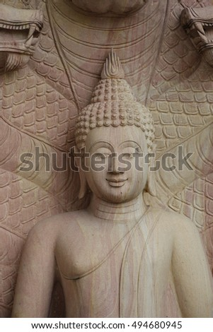 Stone Buddha statues in Thailand.( Wat Ched yod Chiangmai Thailand.)