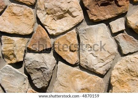 Stone building exterior - stock photo