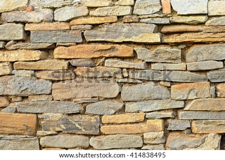 stone built wall texture ready for your design - stock photo