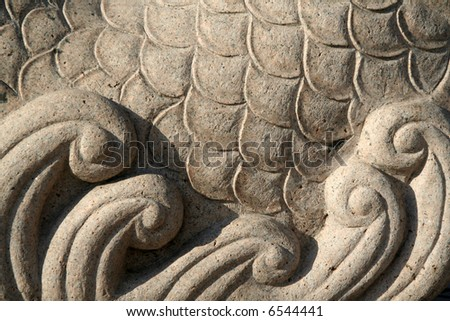 Stone carved pattern - stock photo
