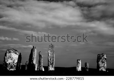 Stone Circle at Callanish, Isle of Lewis, Scotland - stock photo
