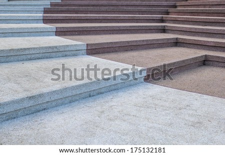 stone cobblestone stairway and curve - stock photo