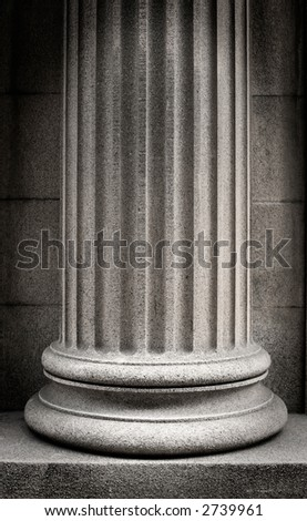 Stone Column - stock photo
