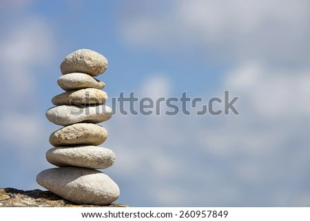 Stone composition.Hierarchy and Balance.