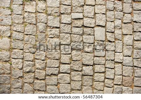 Stone cubes, path, background - stock photo