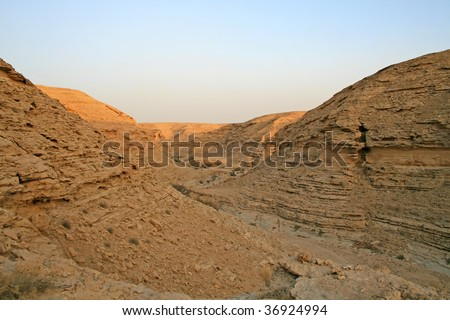 Stone desert near Ar Riyadh, Saudi Arabia - stock photo