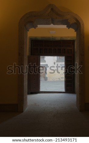 Stone Entrance and Archway - stock photo