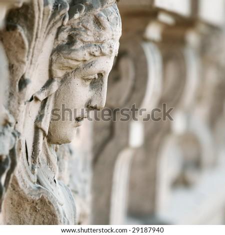 stone face - stock photo