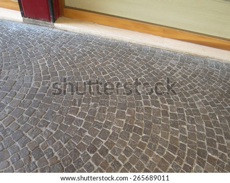 Stone floor texture useful as a background - stock photo