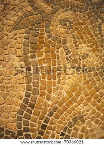 Stone floor, York, England. - stock photo