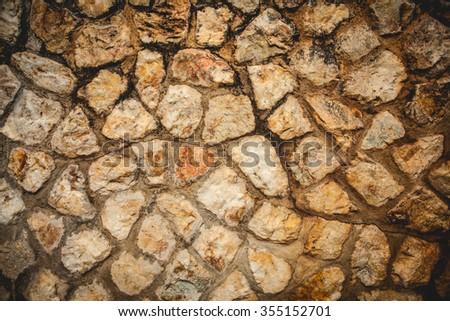 Stone floors and stone walls - stock photo