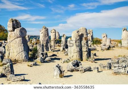 Stone Forest - Fabulous Rock Phenomenon. Varna Province, Bulgaria - stock photo