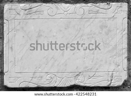 Stone frame - stock photo
