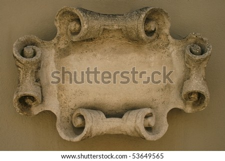 Stone frame - stock photo