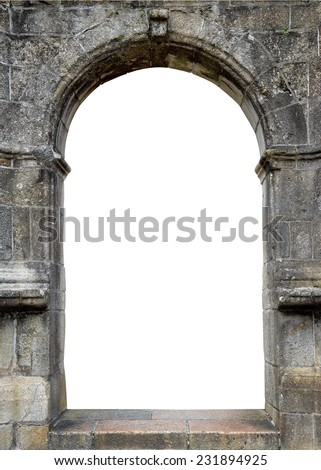 Stone gate with space for your text - stock photo