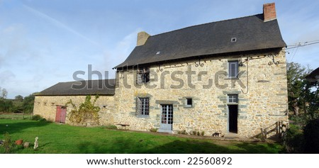 Stone house in Northern France, circa 1650. - stock photo