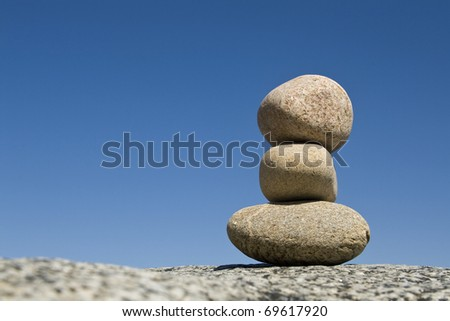 Stone, in balance zen concept. - stock photo