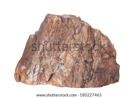 Stone, Isolated on a white background. - stock photo