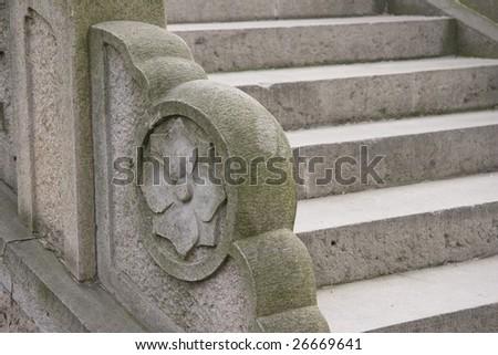 Stone ladder - stock photo