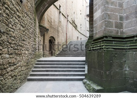 Stone ladder in the European Castle