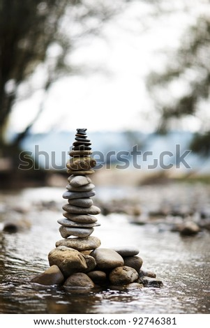 stone made tower - stock photo