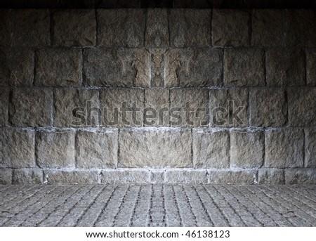 Stone masonry wall - stock photo