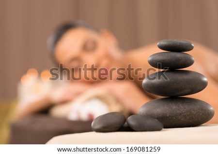 Stone Massage Set - stock photo