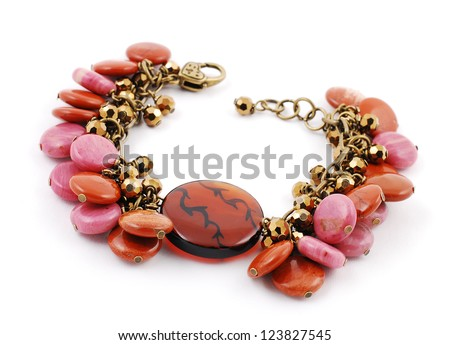 stone mix bracelets - stock photo