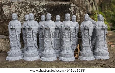 Stone monk - stock photo