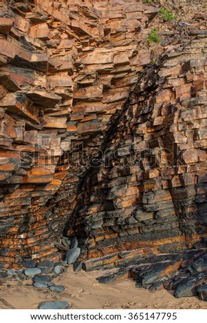 Stone Mountain, the geological layers of rocks. - stock photo