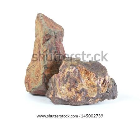 stone on a white background. - stock photo