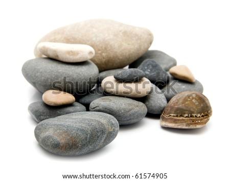 stone on a white background - stock photo