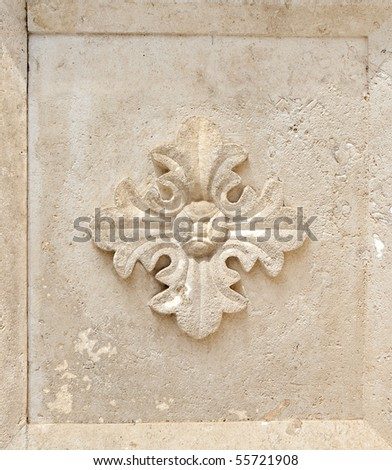 Stone ornament - stock photo