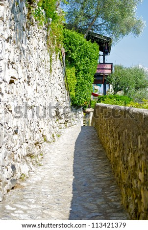 Stone passage in Gandria, Switzerland