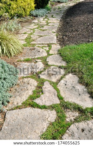 Stone Pathway - stock photo