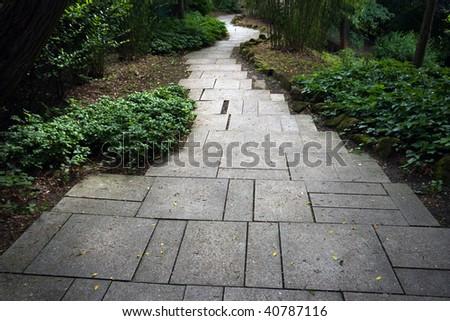Stone pathway - stock photo
