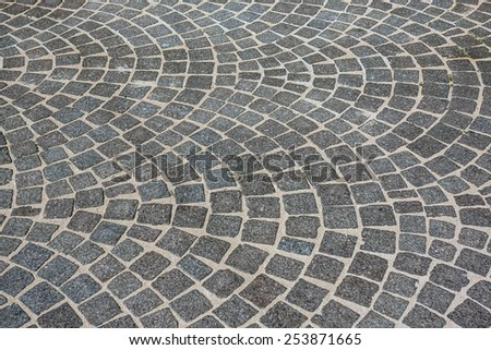 Stone paving texture. Abstract structured background - stock photo