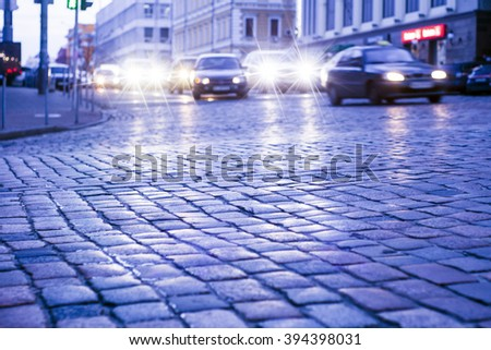 Stone paving texture. Abstract structured background.