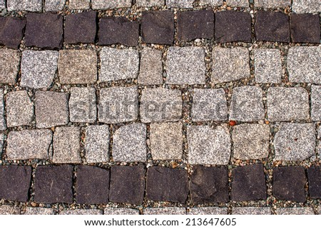 Stone paving texture background - stock photo