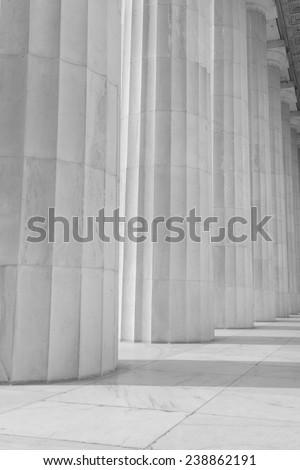 Stone Pillars in a Row - stock photo