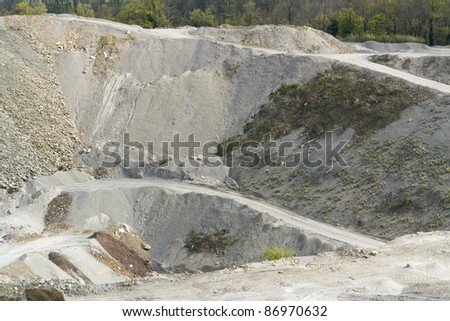 stone pit in Southern Germany at summer time